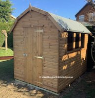 Montana Barn Style Shed with Loglap Cladding 8' x 6'