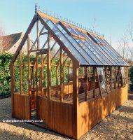 Victorian Timber Greenhouse with Safety Glass 6'7 x 8'3