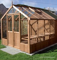 Greenhouse Shed Combination 6'4 x 8'9 Greenhouse + 4'3 Shed