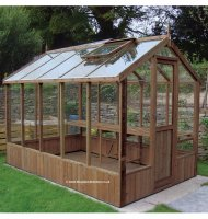Modern Timber Greenhouse with Safety Glass 12'7 x 6'8